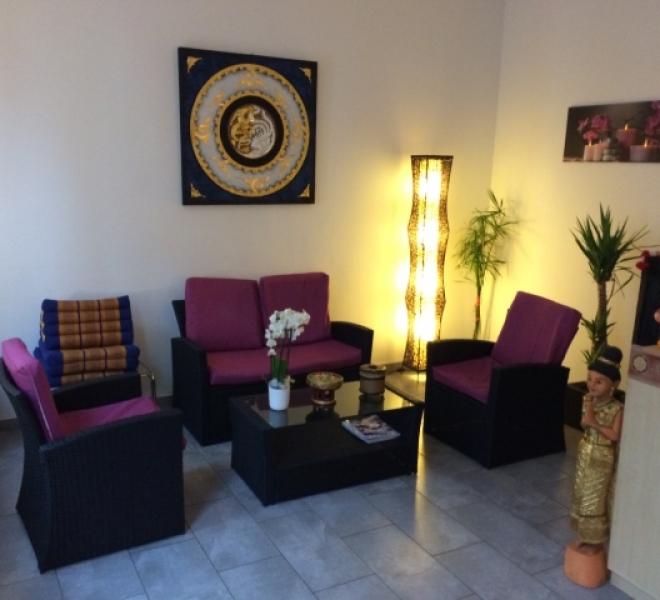 Innenansicht Sairung Thai Massage - Wartebereich
